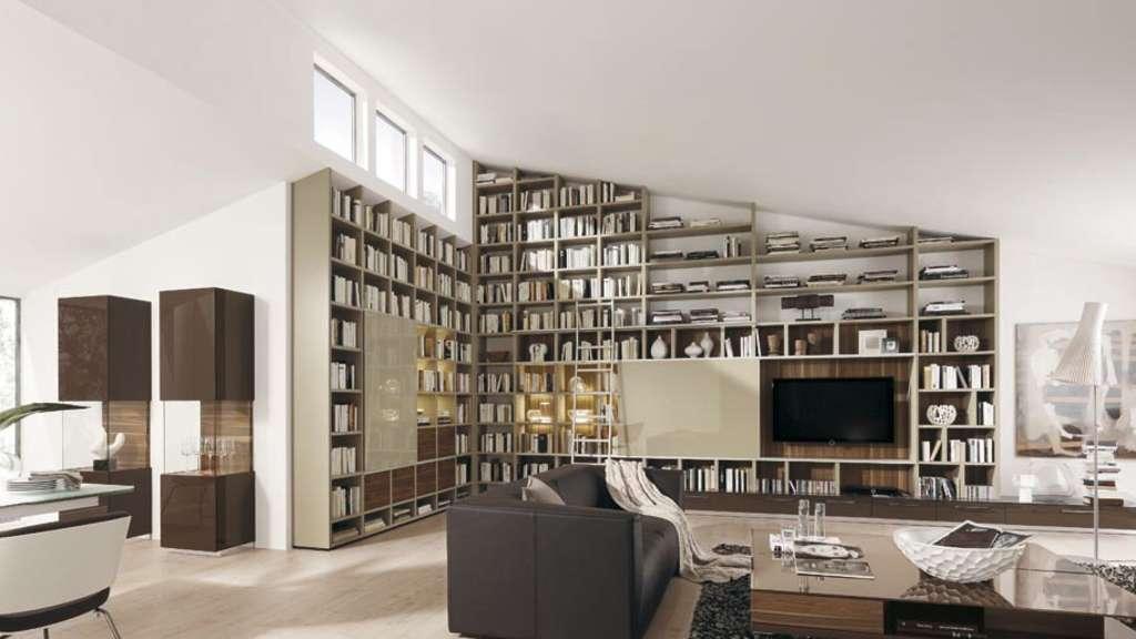 bibliotheken f r zuhause sind ein hingucker wohnen. Black Bedroom Furniture Sets. Home Design Ideas