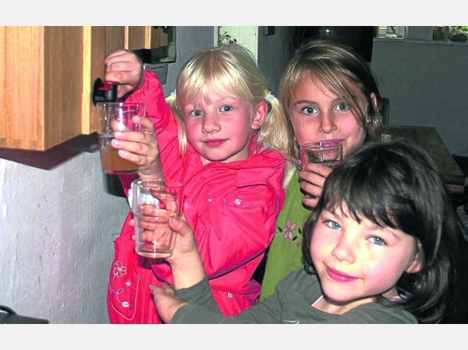 Selbstbedienung: Franziska Schulten (Mitte) sowie ihre Freundinnen Lisa (links) und Svenja nutzen gerne die Box. Fotos:Vossen