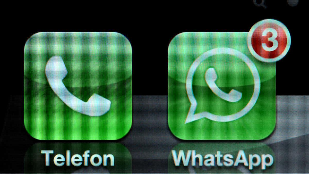 ein haken bei whatsapp