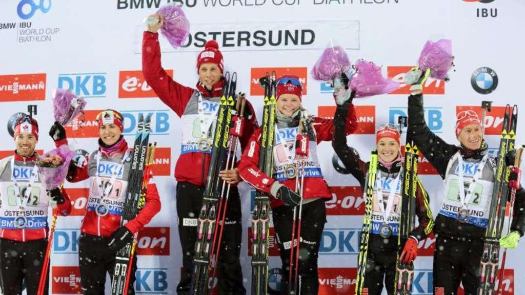 Maren Hammerschmidt und Daniel Böhm (r) kamen auf den dritten Rang.