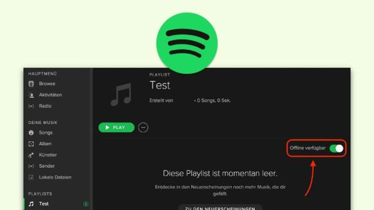 how to make music offline on spotify