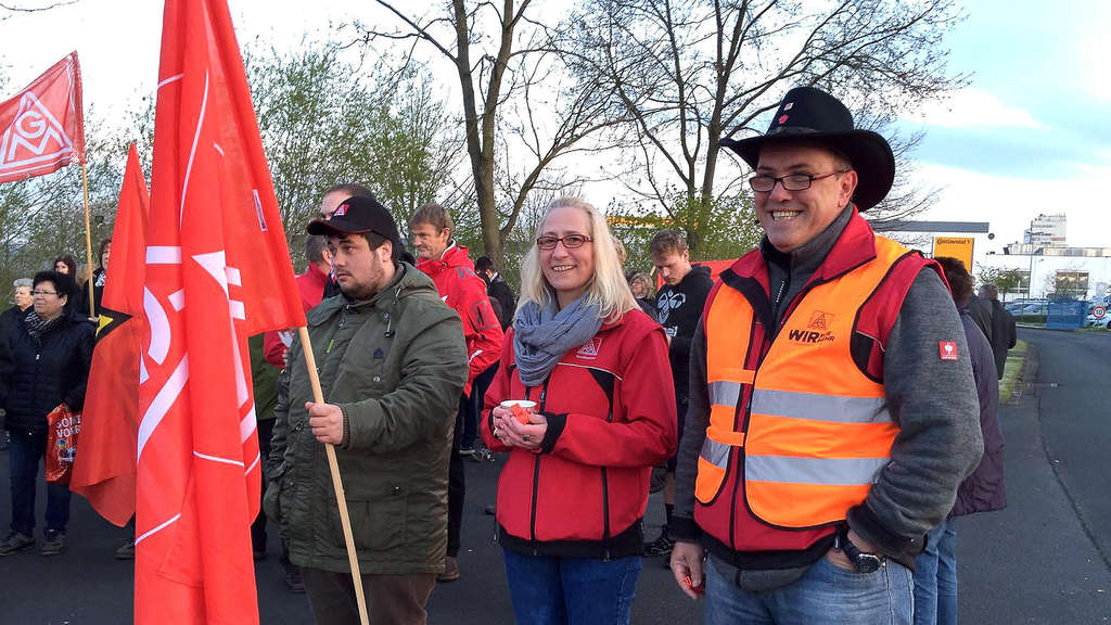 Warnstreik bei Continental in Bebra