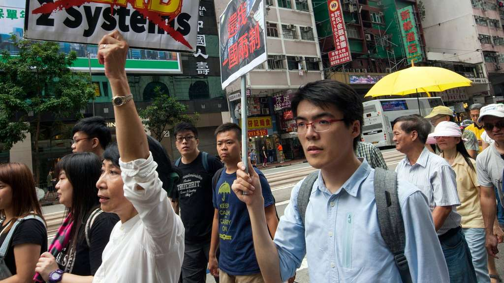 100.000 Demonstranten in Hongkong erwartet