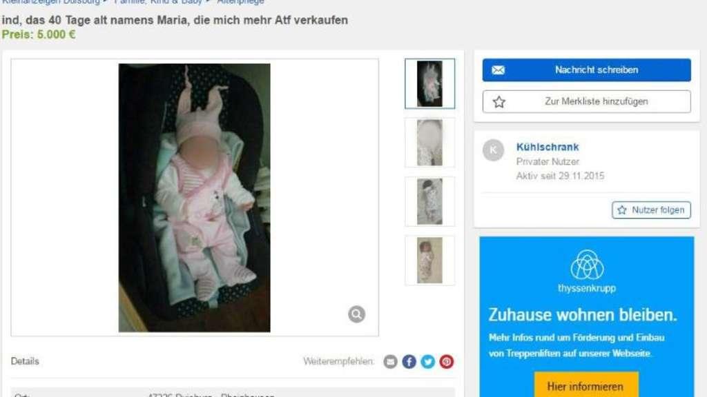 familiengericht entscheidet ber ebay baby aus duisburg welt. Black Bedroom Furniture Sets. Home Design Ideas