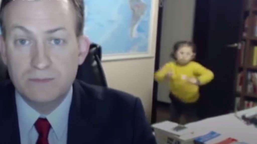 Wenn die Kinder ins Interview platzen