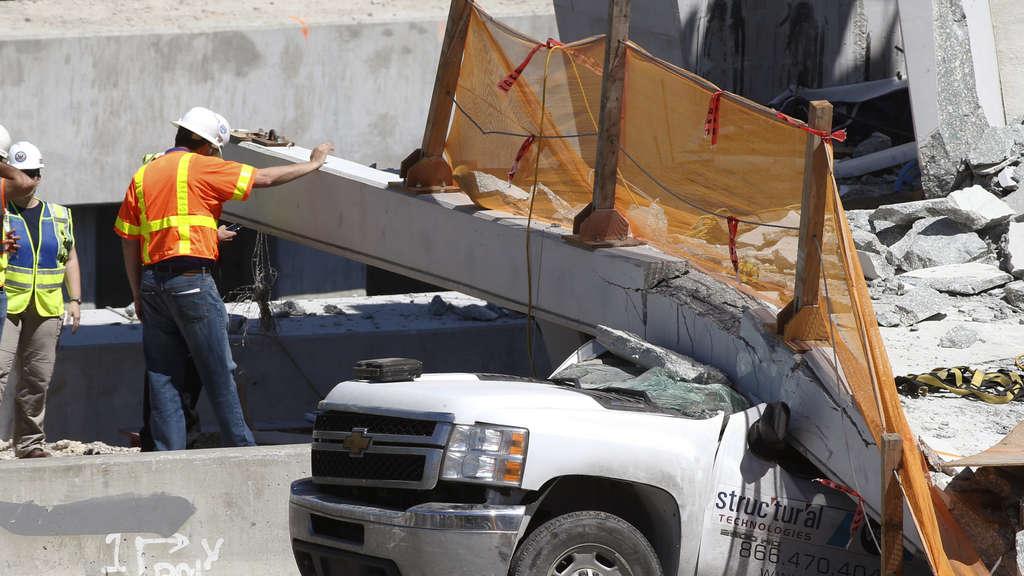 Brückeneinsturz bei Miami: Opferzahl stieg auf neun