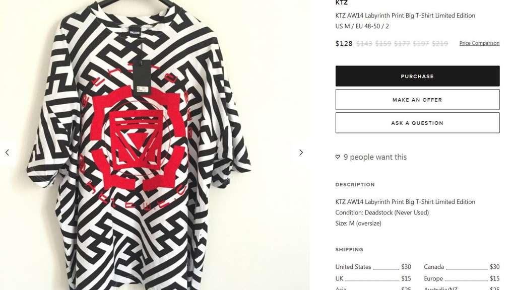 Auf diesem Shirt wollen viele Zuschauer das Hakenkreuz erkennen