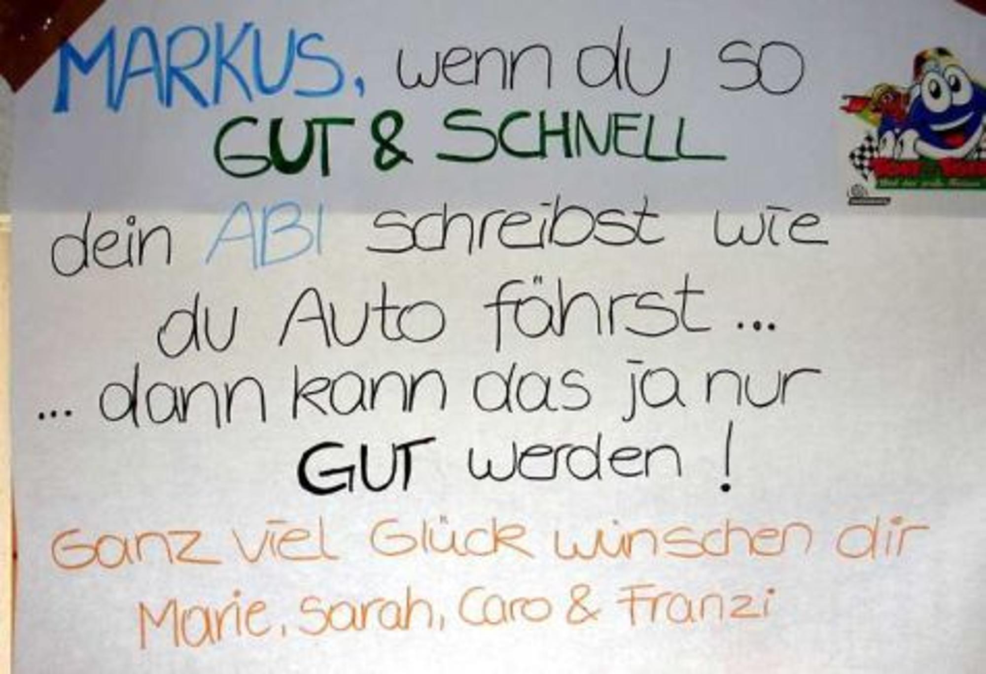 Schuler Schwitzen Im Abi Bunte Banner Machen Ihnen Mut Schwalmstadt