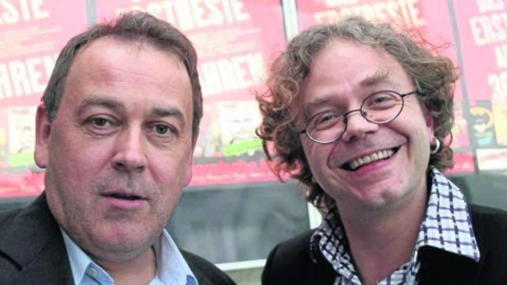Satiriker-Duo: Fritz Tietz (links) und Mark-Stefan Tietze. Foto: Ludwig