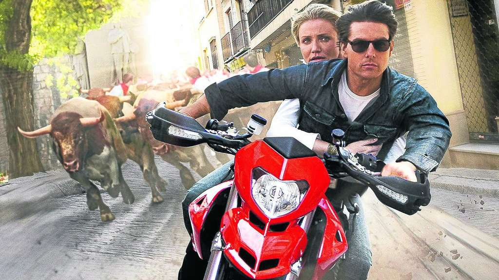 "Gib Gas, ich will Spaß: June Havens (Cameron Diaz) und Roy Miller (Tom Cruise) rasen sinnlos durch die Action-Komödie ""Knight and Day"". Foto: Fox"