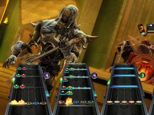 "Screenshots aus Guitar Hero ""Warriors of Rock"""