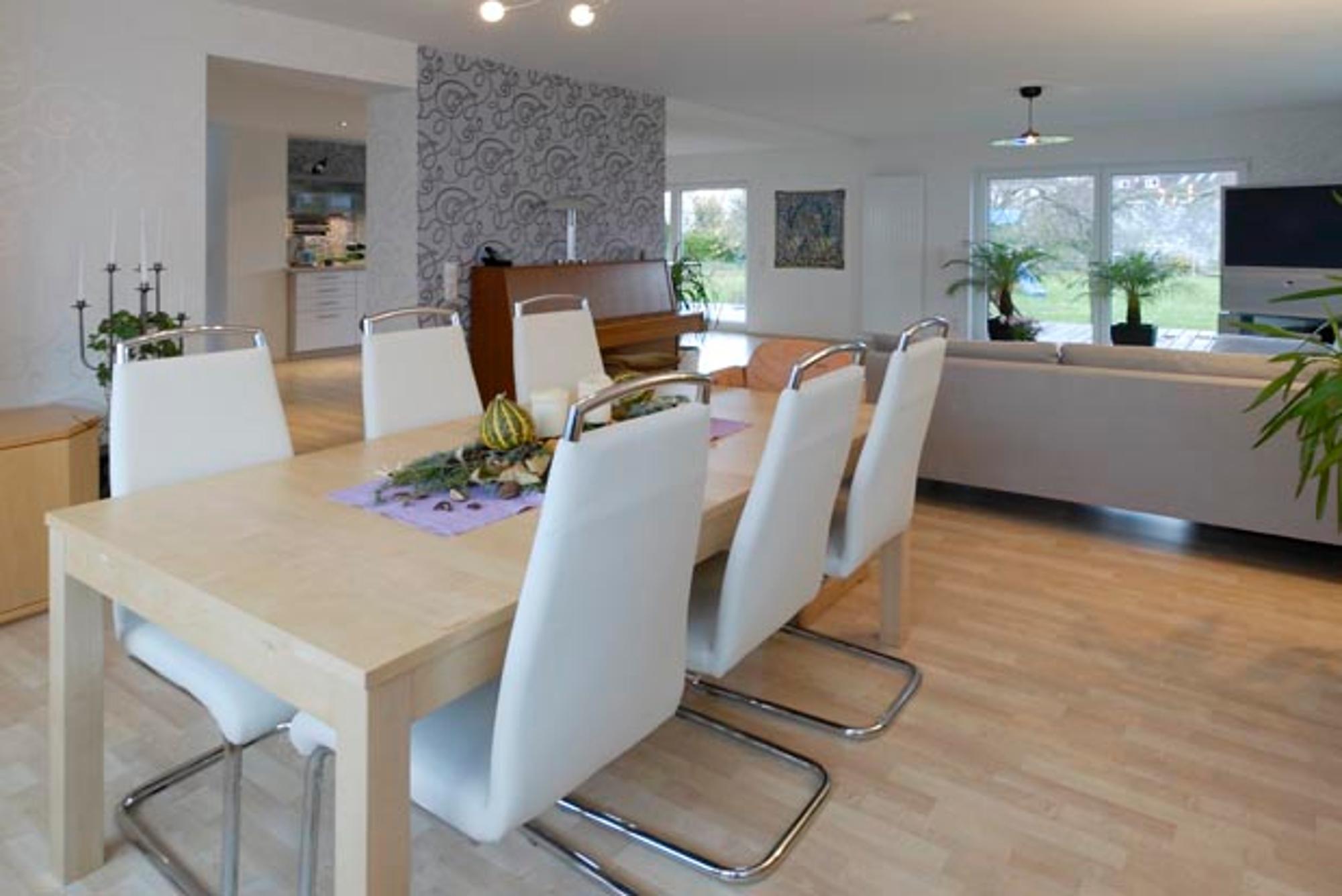 Wohntraume Ein Haus Wird Durch Eine Modernisierung Und Einen Anbau