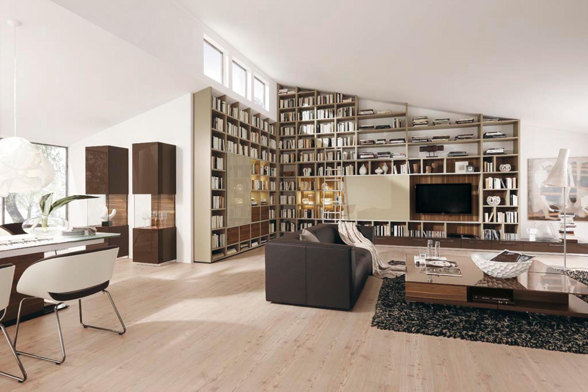 Bibliotheken für zuhause sind ein Hingucker | Wohnen
