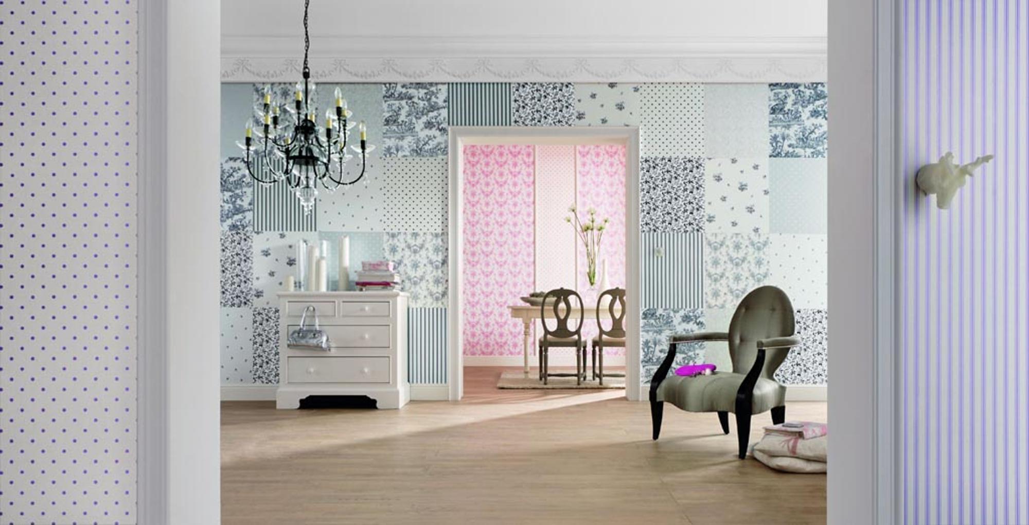 Rasch Designmix: Der Eindruck Jedes Bedruckte Viereck Sei Einzeln  Angebracht Gibt Dem Raum Höchste Individualität.