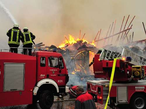 Großbrand in Roppershain
