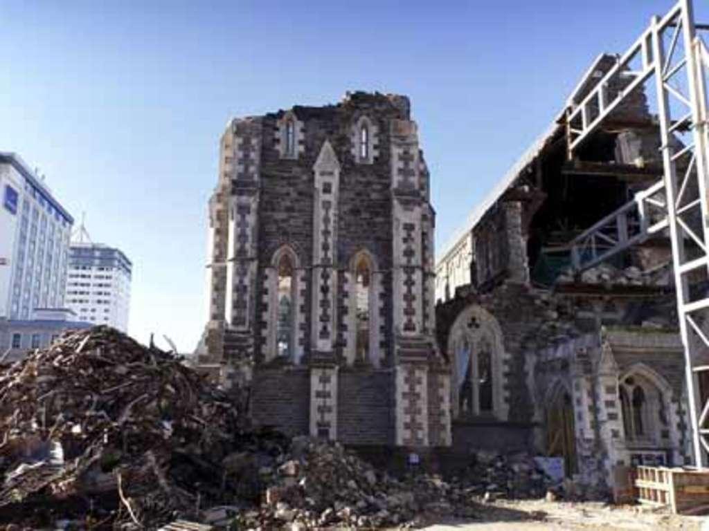 Nach Erdbeben Christchurch Versinkt Im Schutt Welt