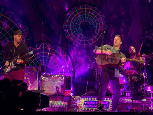 Coldplay: Internet-Konzert in Stierkampfarena