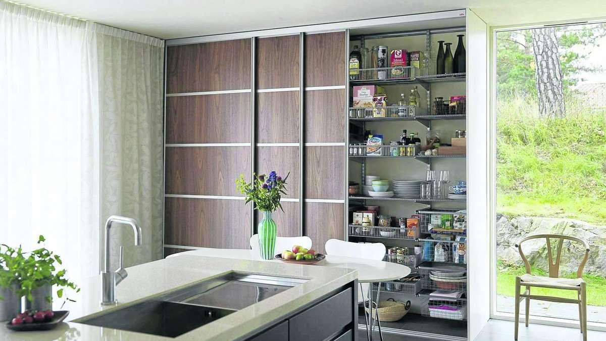 Bemerkenswert Aufbewahrungssysteme Küche Ideen Von Flexible Und Schiebetüren Schaffen