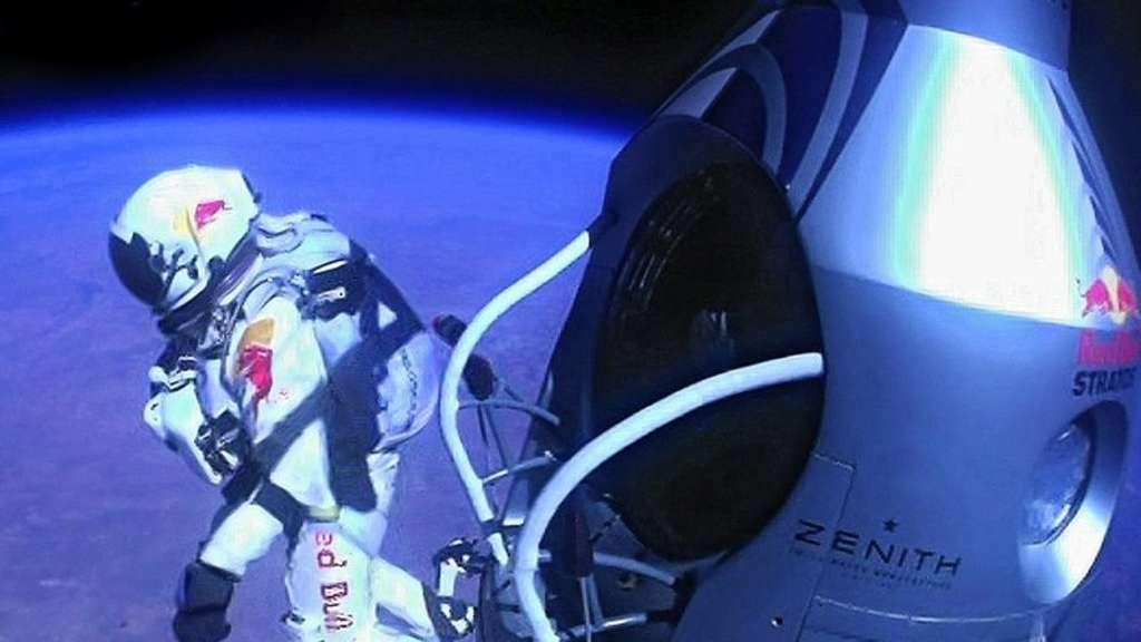Felix Baumgartner Feiert überschall Erfolg Welt