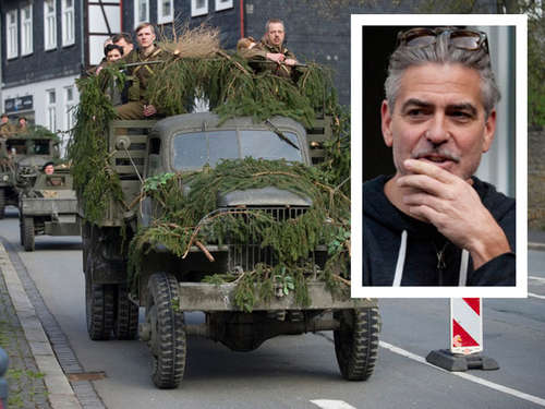 "Hier dreht George Clooney ""The Monuments Men"""