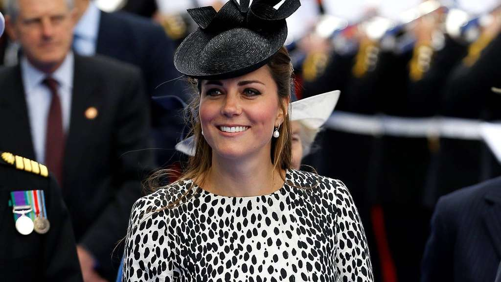 Britain's Kate, the Duchess of Cambridge arrives for a naming ceremony for the Royal Princess cruise ship in Southampton, England Thursday, June 13, 2013. (AP Photo/Kirsty Wigglesworth)