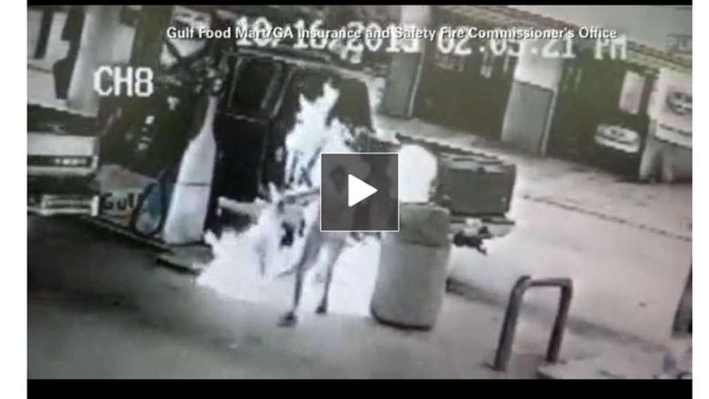 Video von einem Mädchen, das sich spritzte