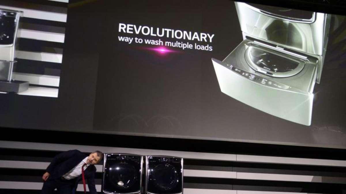 neue technik von lg waschmaschine mit zwei trommeln netzwelt. Black Bedroom Furniture Sets. Home Design Ideas
