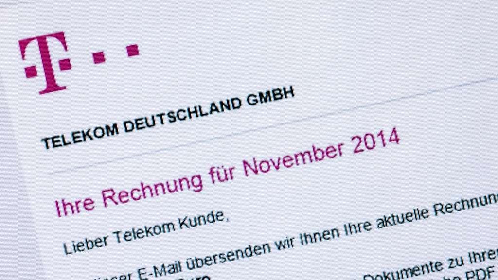 telekom deutschland rechnung online