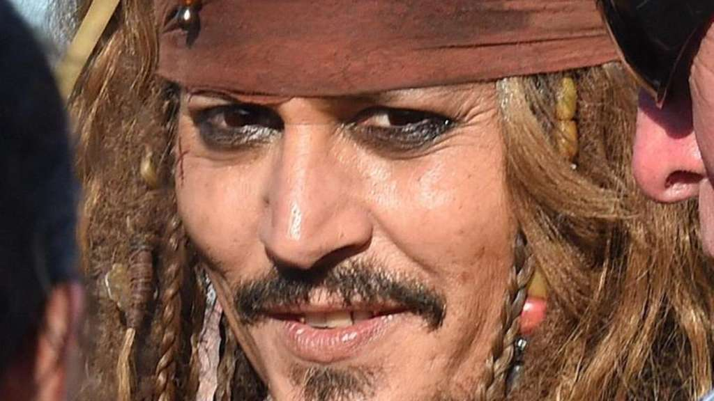 Johnny Depp als Captain Jack Sparrow in Brisbane. Foto: Dave Hunt