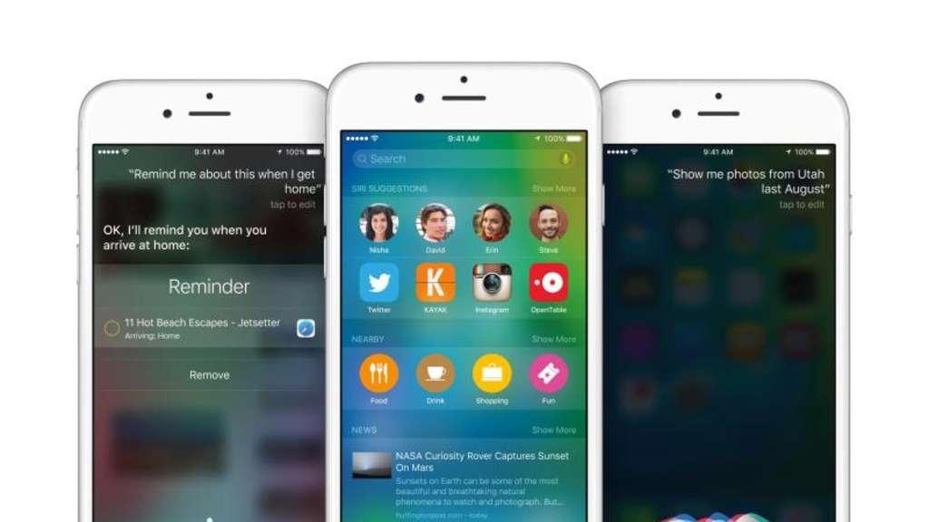Schlauere Siri Und Multitasking Das Ist Neu In Ios 9 Netzwelt