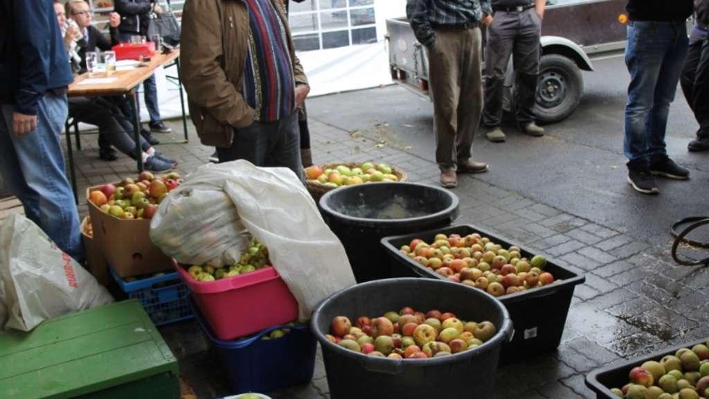 äpfel Pressen
