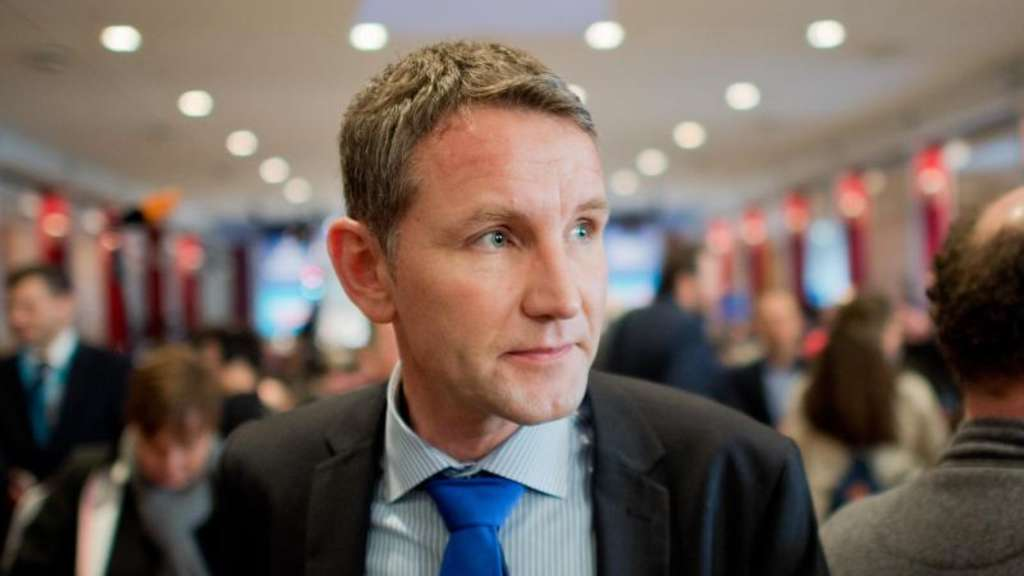 Thüringens AfD-Chef Björn Höcke in Hannover. Foto: Julian Stratenschulte/Archiv