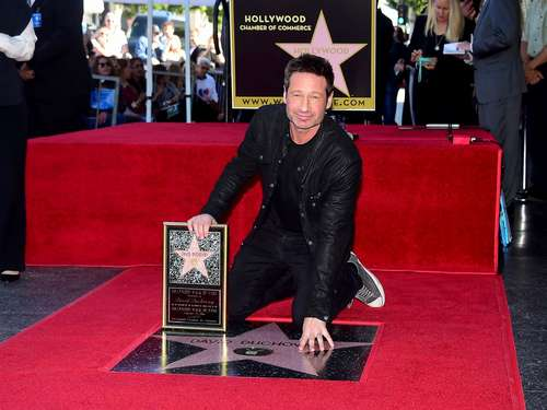 David Duchovny enthüllt Stern auf Walk of Fame