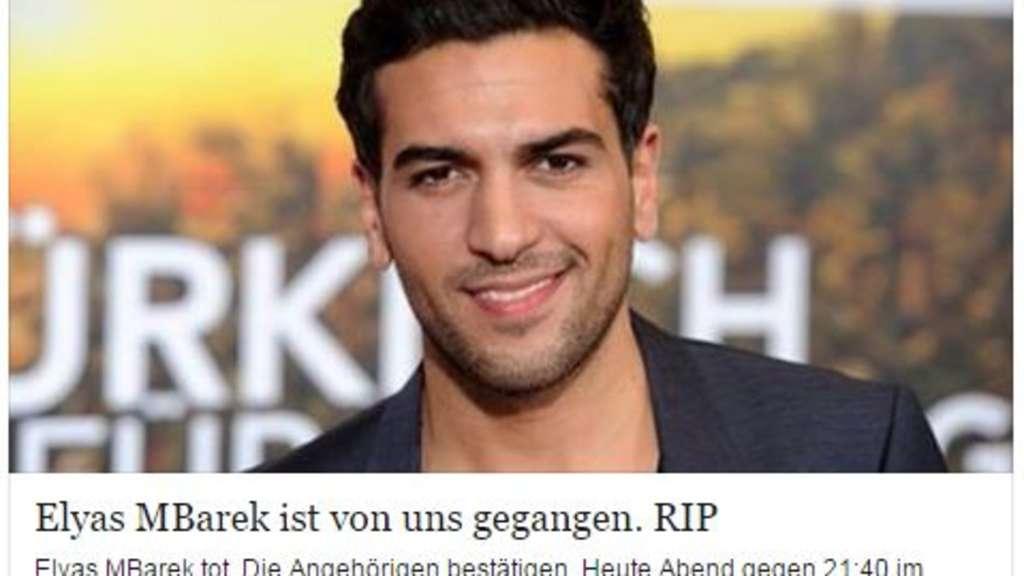 Elyas Mbarek Für Tot Erklärt Böses Gerücht Auf Facebook Leute