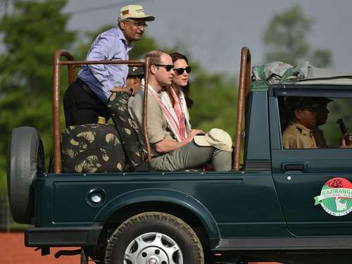 Die Royals in Indien: William und Kate auf Safari