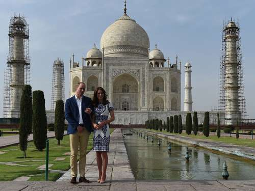 Historischer Moment: William und Kate am Taj Mahal