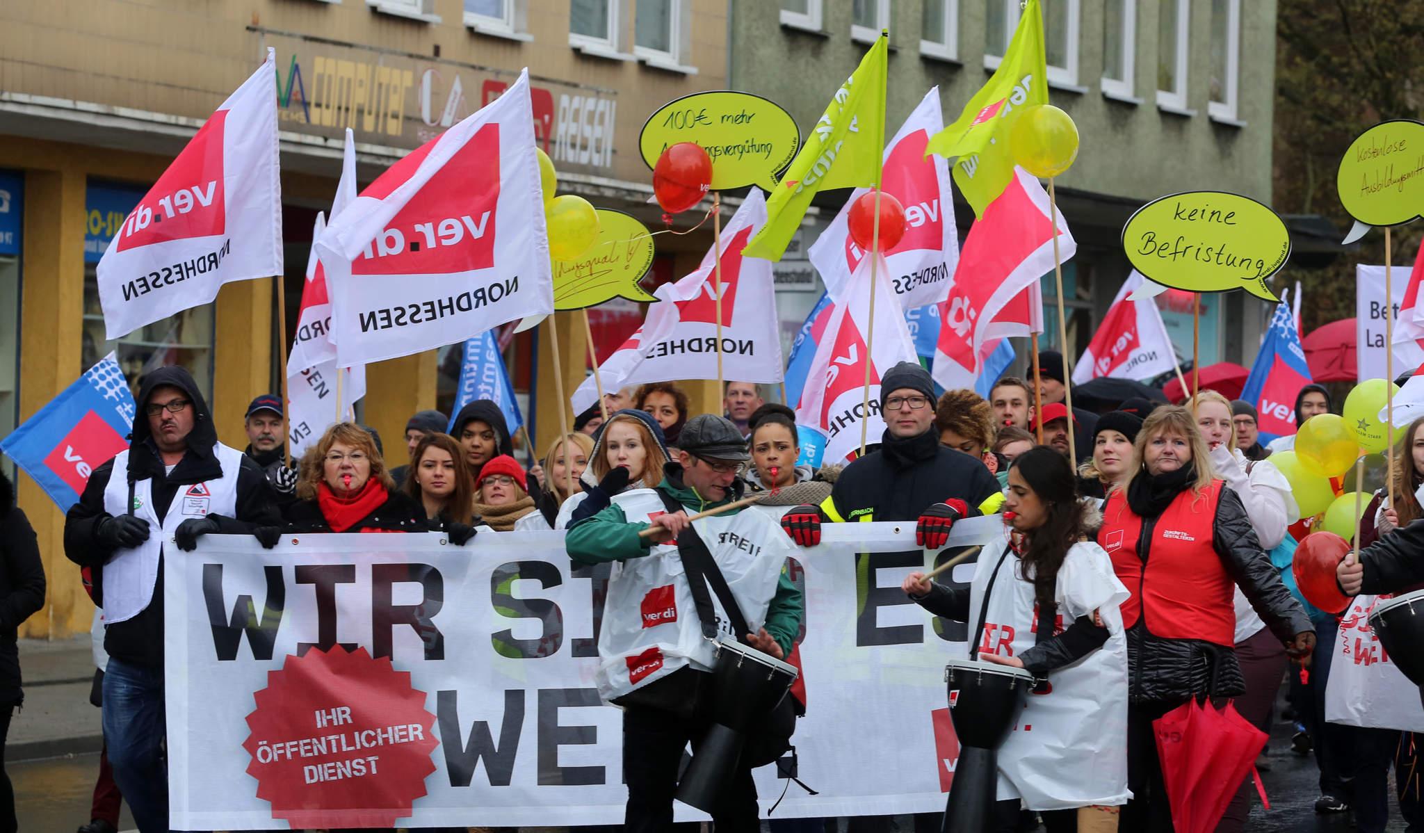 Verdi Aufruf Zum Streik 4000 Protestierten In Kassel Kassel