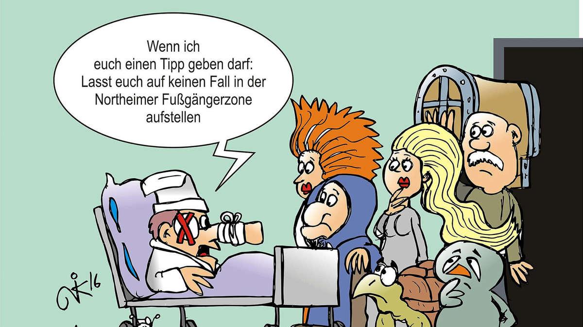 Karikatur Krankenhaus
