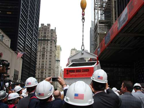 Meilenstein auf World Trade Center-Baustelle in New York