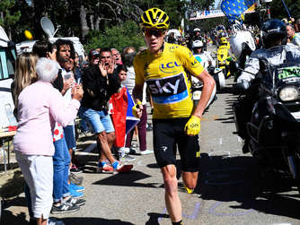 Lief den Mont Ventoux hinauf: Christopher Froome. Foto: dpa