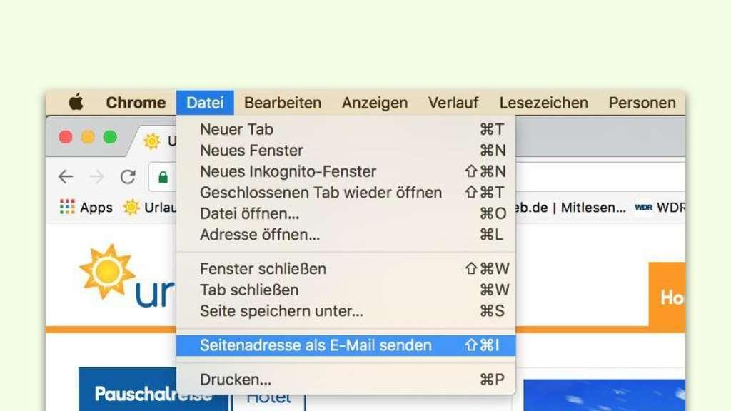 Chrome Browser Web Adresse Per Mail Verschicken Netzwelt