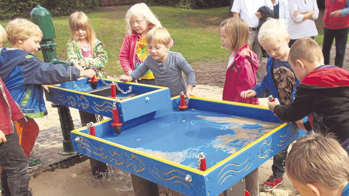 Wasserspiele für Kinder am Diebesturm | Bad Sooden-Allendorf