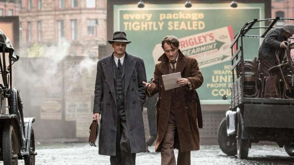 Colin Firth (l) als Maxwell Perkins und Jude Law als Thomas Wolfe. Foto: WildBunch