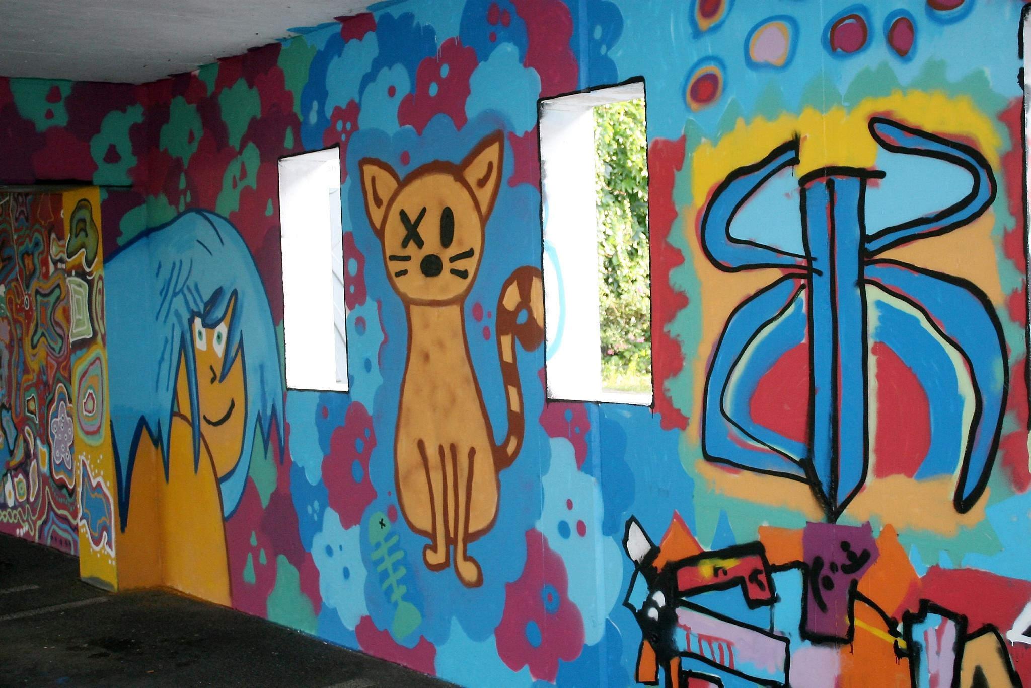 Coole Graffiti Parkhaus In Wolfhagen Neu Gestaltet Wolfhagen