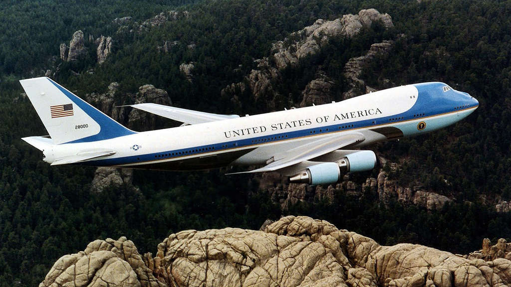 Amerikanische Präsidentenmaschine Air Force One