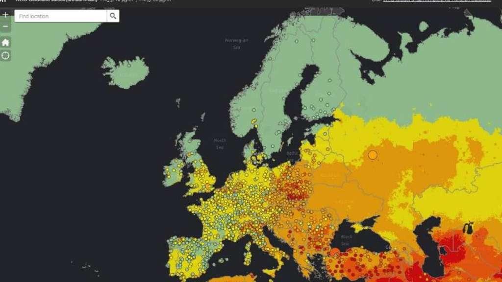 luftqualität deutschland karte Karte zeigt Verschmutzung an | Netzwelt luftqualität deutschland karte