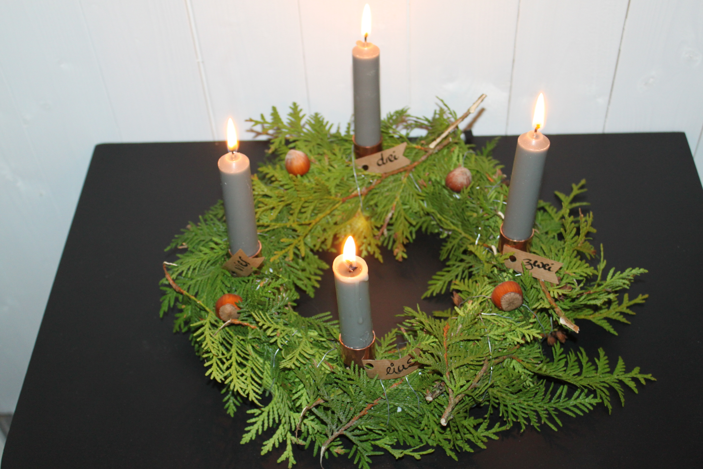 Adventskranze aus styropor