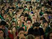 Chapecoense fans attend a mass for victims of plane crash
