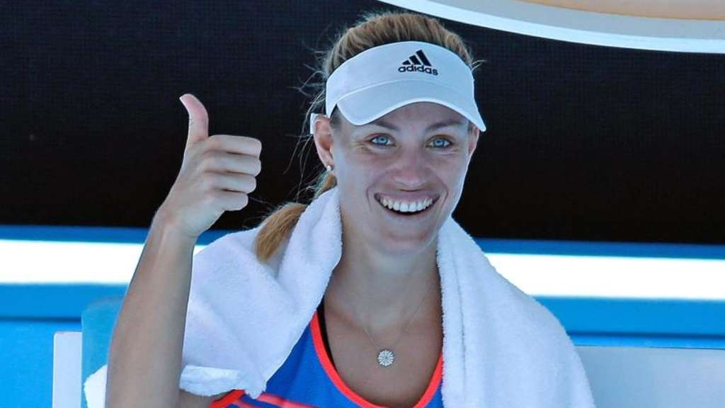 Angelique Kerber hat ihr Auftaktmatch am 16. Januar in der Rod-Laver-Arena. Foto: Mark Baker