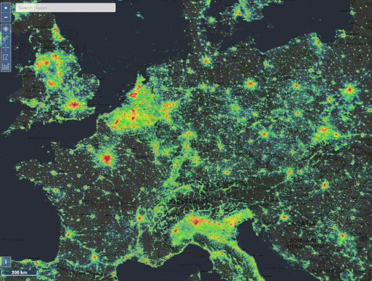 Lichtverschmutzung Karte 2019.Wo Ist Die Nacht Noch Dunkel Eine Webseite Verrat Es Netzwelt